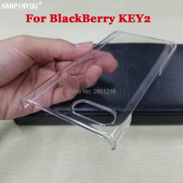 Para BlackBerry Key2 Hard Caso PC DIY Ultra Fino De Plástico Transparente Capa Protetora Da Pele