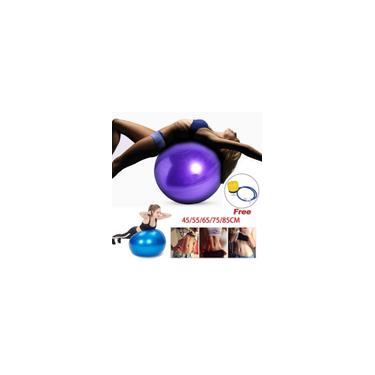55/65/75 cm Anti-Pressão Diâmetro à Prova de Explosão Yoga Exercício Ginástica Pilates Yoga Bola de Equilíbrio Ginásio Treinamento Doméstico Bola de Yoga