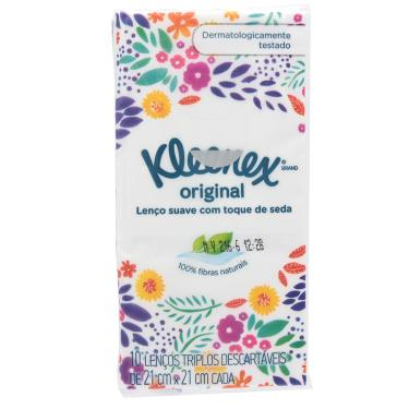 Lenços de Papel de Bolso Kleenex 10 Unidades