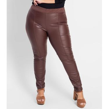 Legging Secret Glam Marrom Plus M