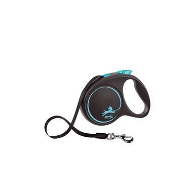 Guia Flexi Black Design Fita Grande 5m - Azul p/ cães
