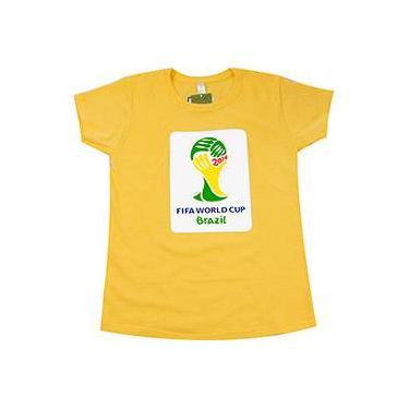 Camiseta 1 Copa do Mundo FIFA 2014 Brasil Amarela - P 71797fff79029