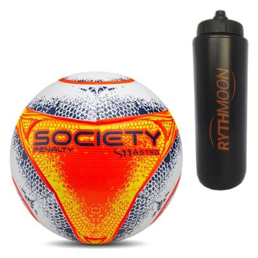 b1a17111f7 Kit Bola Futebol Society S11 Pro Astro VIII Penalty + Squeeze Automático 1lt