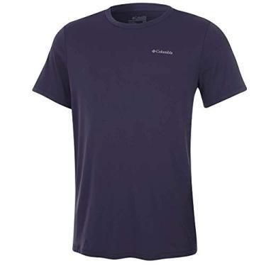 Camiseta Columbia Neblina Manga Curta Masculina -Azul M