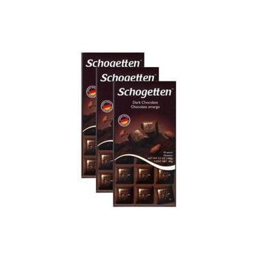 Chocolate Schogetten Dark - Amargo - Kit 3 unidades (100g)