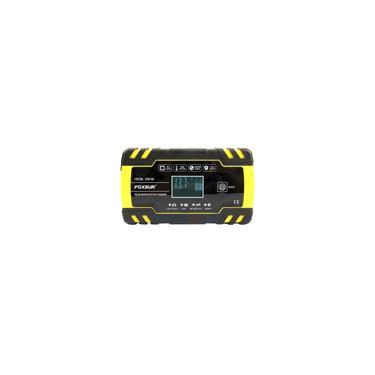 Foxsur 12V / 24V lcd efb agm gel Carregador de bateria de reparo de pulso para motocicleta carro