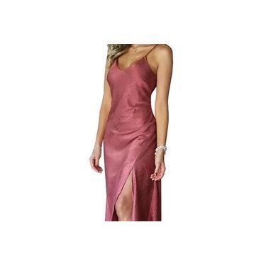 Vestido Midi Modelagem Slip Dress Boneca de Luxo