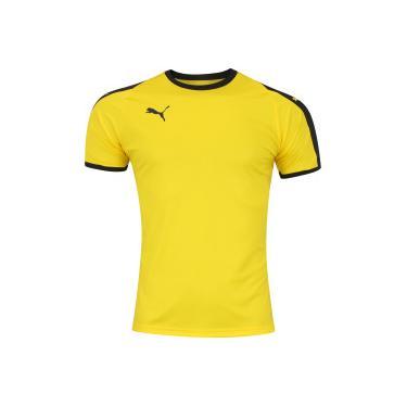 Camisa Puma Liga Jersey - Masculina - Amarelo Preto Puma 650fa4bcc7926