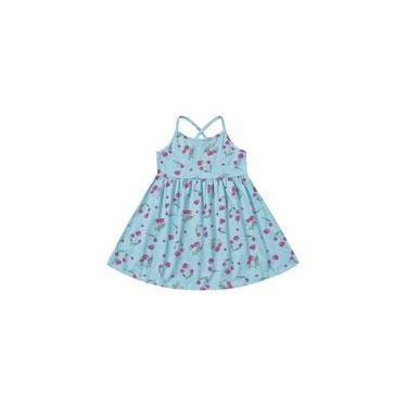 Vestido Infantil Azul/Cereja - Fakini For Fun