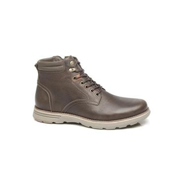 Freeway Bota Casual Masculina Cassino Cor Chocolate