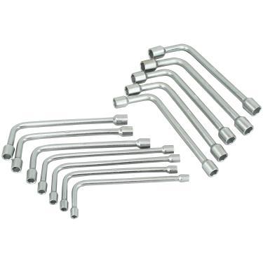 Jogo de Chave Biela Tipo L Aço Especial Niquelado e Comado com 12 Peças 8 a 19mm - NC0619