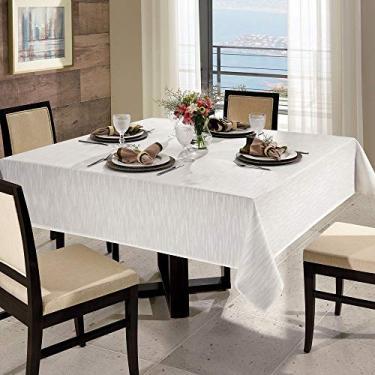 Imagem de Toalha de Mesa 8 Lugares Quadrada 200 x 200cm Dohler Clean Passion Branca - Dohler