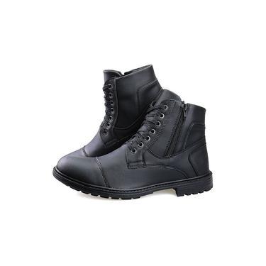 Bota Masculina Sapato Coturno Casual Super Leve C/ziper Preto