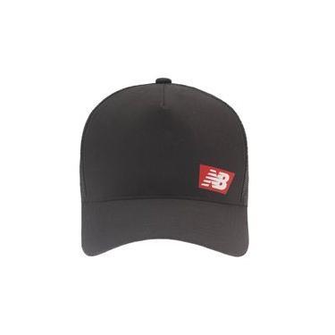 Boné New Balance Trucker Logo Emborrachado | Masculino Preto - UNI