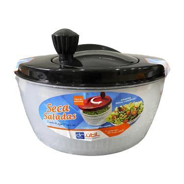 Imagem de Centrífuga De Salada Secador Verduras Manual 4 Litros Preto