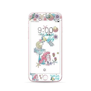 Disney 2021 princesa dos desenhos animados vidro temperado para iphone 6s 7 8 protetor de tela