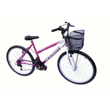 Bicicleta Aro 26 Wendy Fem Mtb 18M Convencional Cor Pink