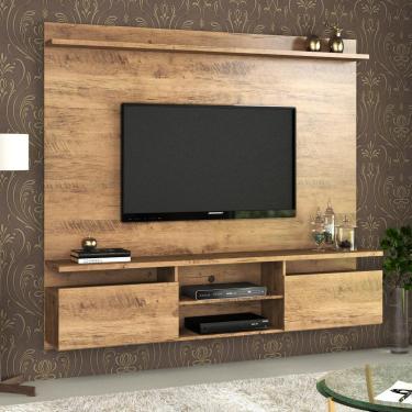 Imagem de Home Suspenso Light Para Tv Até 55 Polegadas Ebano