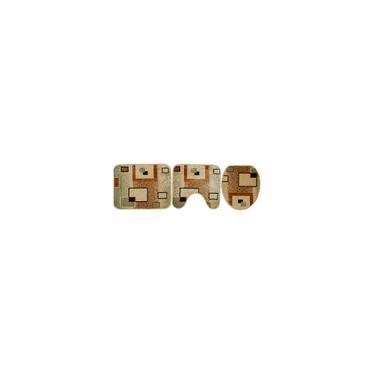 Imagem de Jogo de Banheiro Quadrado com 3 peças - Rayza - Colorido