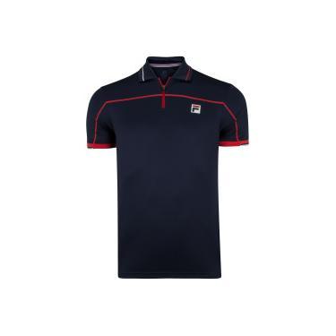 Camisa Polo Fila Fine Striped - Masculina Fila Masculino