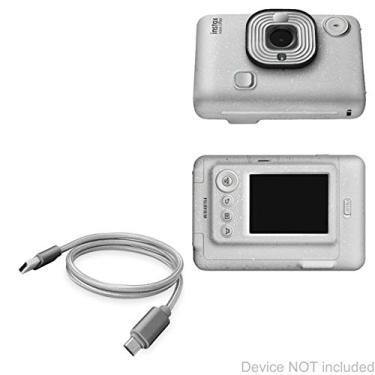 Cabo Fujifilm Instax Mini LiPlay, BoxWave [Micro USB DuraCable] Cabo de carregamento Micro USB trançado para Fujifilm Instax Mini LiPlay – Cinza espacial
