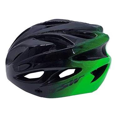 Capacete Ciclismo Tsw Raptor 2019 Com Sinalizador Led Preto/cinza/verde