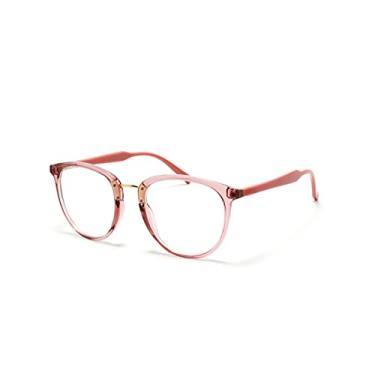 Imagem de Óculos Armação Feminino Gatinho Com Lentes Sem Grau Aa-6814 Cor: Rosa-Coral-Claro