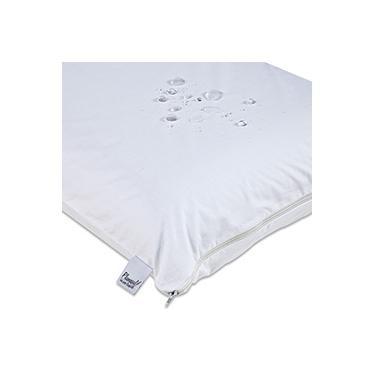 Imagem de Capa para Travesseiro Impermeável com Zíper - 50x70 - Tecido 100% Algodão Percal 180 Fios -  Plumasul