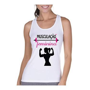 Regata Criativa Urbana Cavada Fitness Feminina Branco G