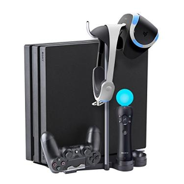 Base Suporte 5 In 1 Vertical Playstation Ps4 Slim Pro Vr