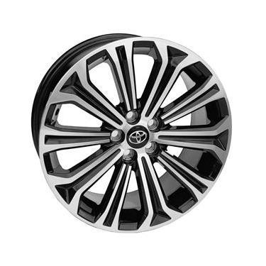 Jogo de Rodas Toyota Corolla Hibrido Aro 16 x 6,0 5x100 ET39 S22 Hybrid Preto Diamantado