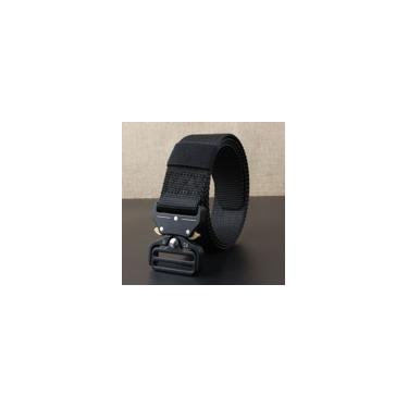Bewine-Nylon estiramento trançada tecido elástico Canvas fivela de cinto Cintura cintura
