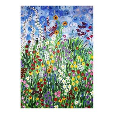 Imagem de HOLPPO Quebra-cabeça de flores Klimt 520/1000/1500/2000/3000 peças quebra-cabeça para adultos adolescentes, decorações de família, presente de aniversário exclusivo (tamanho : 1500 peças)