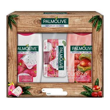 Kit Palmolive Natureza Secreta Ucuuba e Pitaya, 2 Sabonete Líquido 250 ml + 1 Sabonete em Barra 90 g, Palmolive