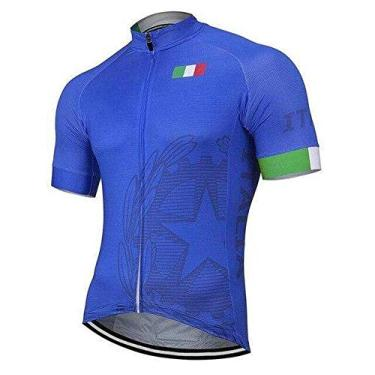 Team Italy Conjunto masculino de ciclismo e short