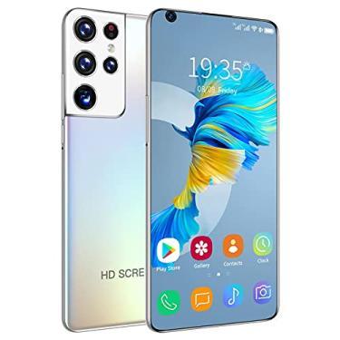 Imagem de Smartphone 2021 versão mais recente 16 GB RAM 512 GB Rom Dual SIM Desbloqueado Smartphone Android 10.0 Deca Core 4G/5G Celulares 7,3 polegadas Tela HD Celular GPS