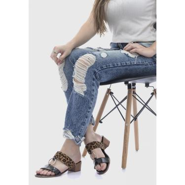 Imagem de Sandália Terra do Calçado Salto Baixo Onça  feminino