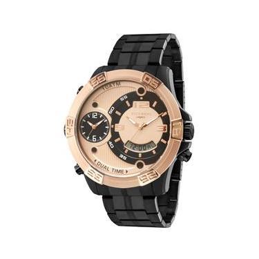49162e64613 Jjóias Premium Comprar · Relógio Technos Dual Time Anadigi Masculino  T205FT 4T