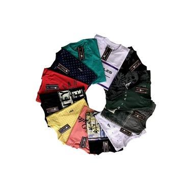 Kit 12 Camisetas Masculinas Fio 30.1 Premium Old Rules Revenda