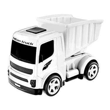Imagem de Caminhão de Brinquedo Caçamba que Levanta Carrinho Baby Grande Branco