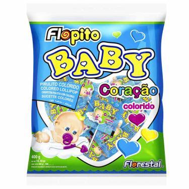 Pirulito Flopito Baby Coração Colorido 200g Florestal 998332