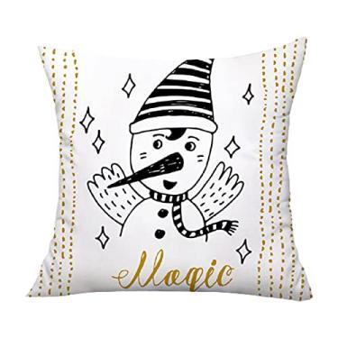 Imagem de giveyoulucky Capa de almofada de acabamento requintado, ampla aplicação, tema de Natal de pelúcia, capa de almofada decorativa para casa, zíper invisível para carro