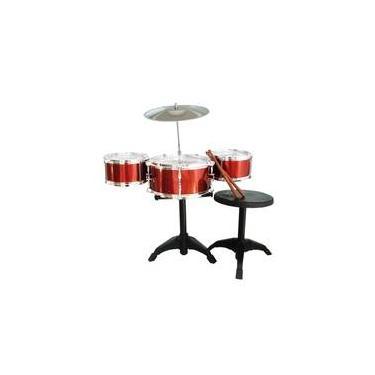 Bateria Musical Infantil Classica Completa Com Banquinho Drums