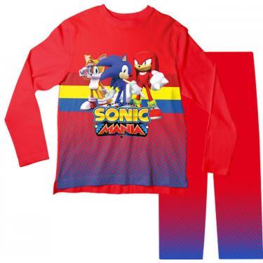 Pijama Infantil Sonic E Amigos Vermelho Pjml