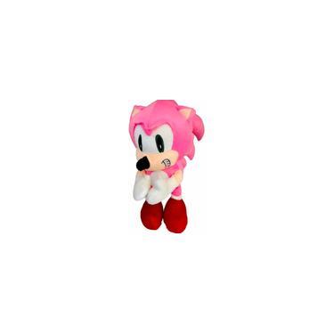 Imagem de Pelúcia Boneco Ouriço Fofinho Coleção Tipo Turma Sonic Rosa