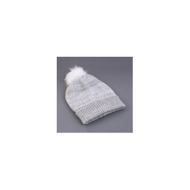 Estilo coreano inverno quente feminino chapéu de crochê cinza tricô boné de esqui novo