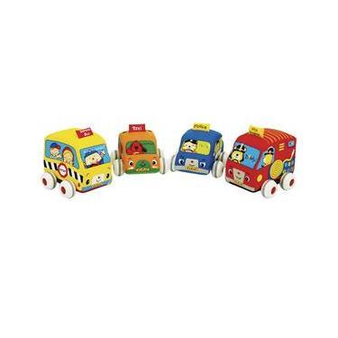 Imagem de Conjunto Carrinhos de Fricção K'S Kids - 4 Unidades