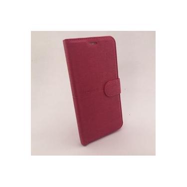 Capa Carteira Quantum Fly Q7 rosa + Pelicula Vidro