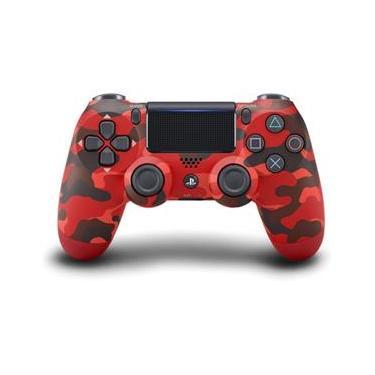 Controle - Dualshock 4 Vermelho Camuflado - Ps4