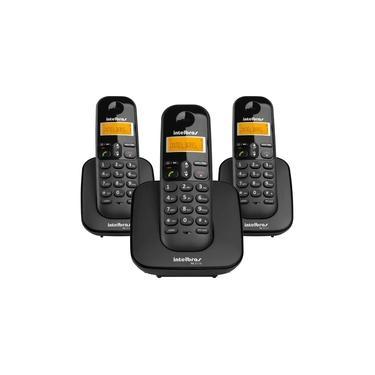 Telefone Sem Fio Intelbras TS3113 ID Com 3 Ramais Preto